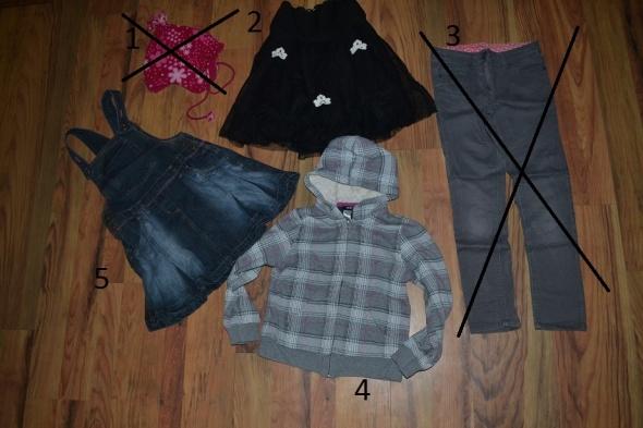 5 szt H&M bluza czapka spodnie next 122cm 128cm