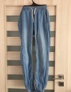 Spodnie cienki jeans ze ściągaczem...