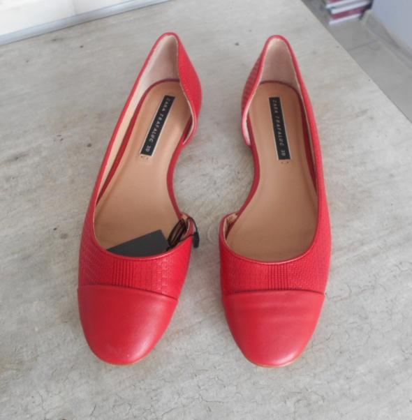 Balerinki Zara nowe czerwone baleriny balerinki 39