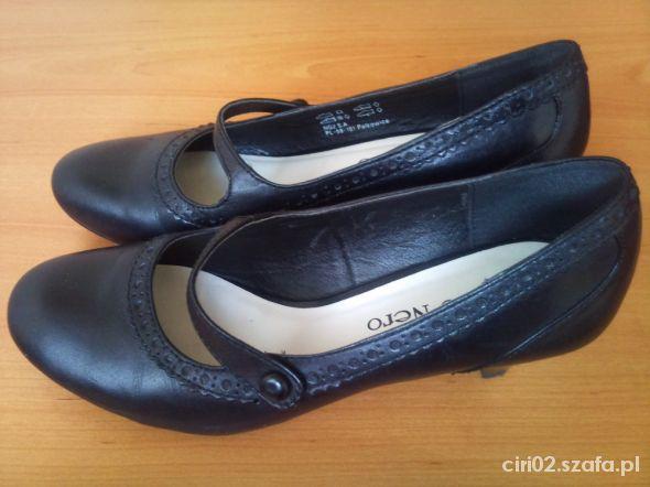 Półbuty Czarne butki 36