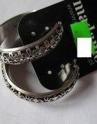 Nowe Kolczyki koła w kolorze srebrnym