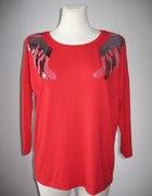 Nowa czerwona bluzka cekiny L