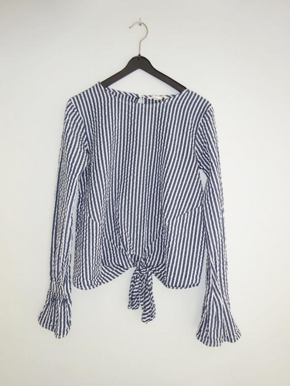 1ff11967731b81 Bluzki H&M koszula bluzka z długim rękawem hiszpanka boho w paski 34 XS
