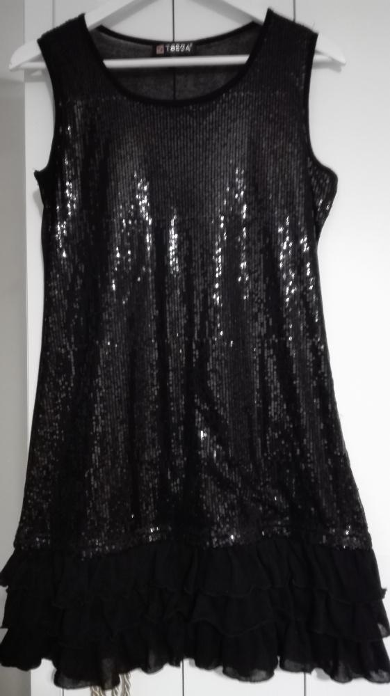 Czarna Sukienka w cekiny