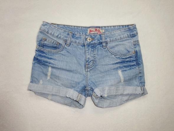 Miss Mila jeans krótkie jasne spodenki dżinsowe S...