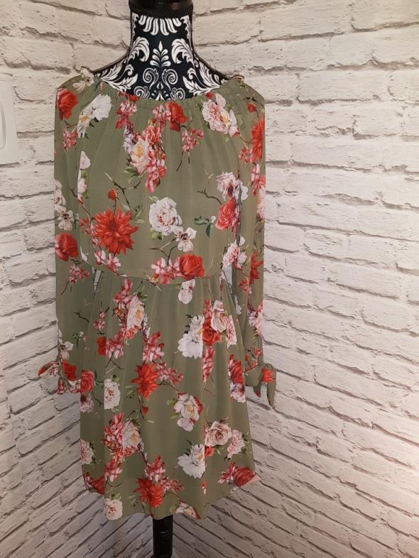 Suknie i sukienki Idealna nowa zielona sukienka w kwiaty