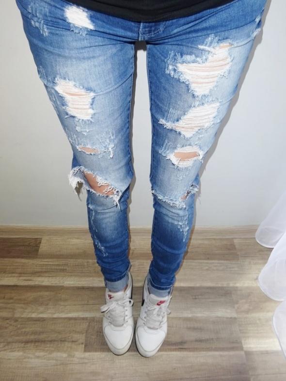 Only spodnie rurki jeans dżinsy z dziurami dziury 36 S...
