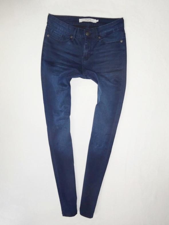 Vero Moda ciemne spodnie rurki skinny 36 S...