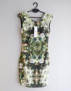 NOWA Vero Moda sukienka w kwiaty dopasowana 34 XS...