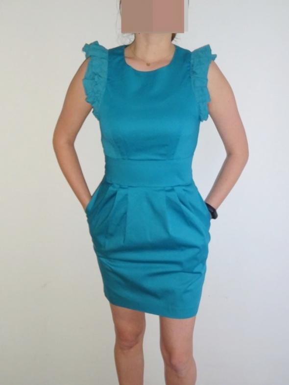 Top Secret piękna turkusowa sukienka tulipan 36 S...