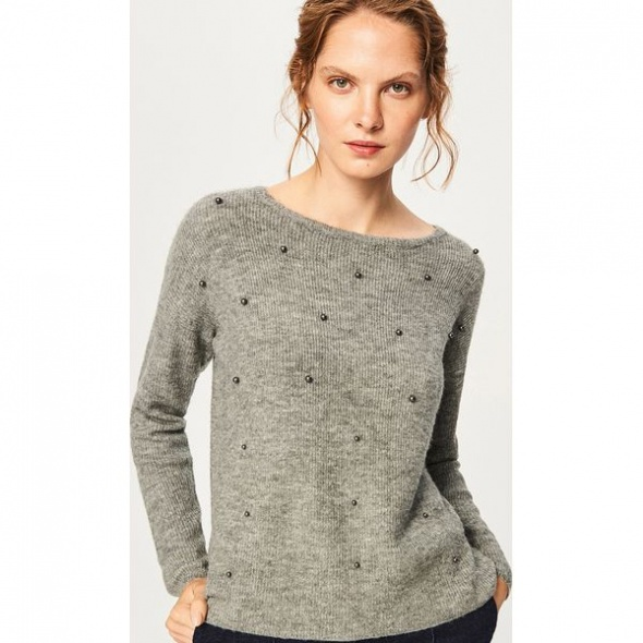 reserved sweter z perelkami S lub M