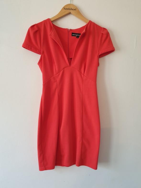 Sukienka pomarańczowa missguided M