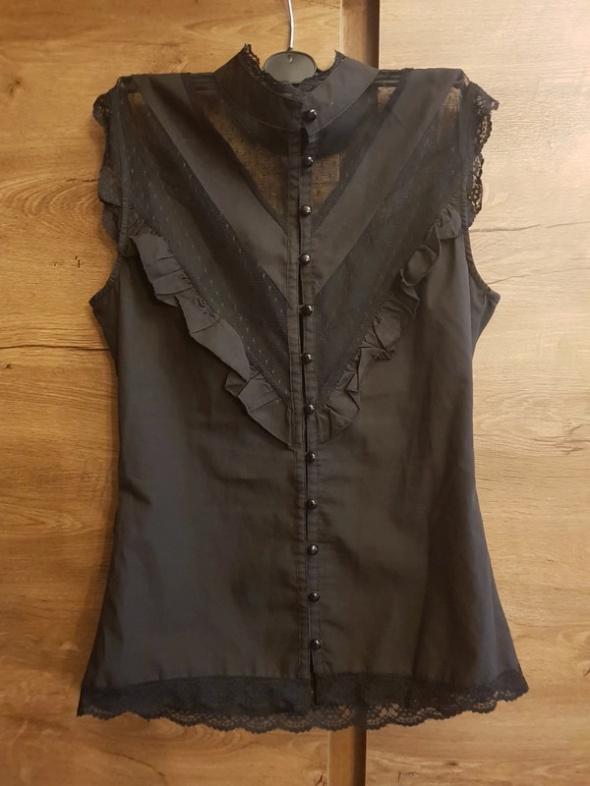 czarna koronkowa gotycka bluzka top koronkowy gotycki wiktoriański
