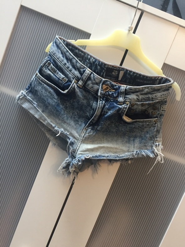 Spodenki jeansowe XS Bershka