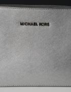 Srebrna torebka Michael Kors Jet Set Crossbody...
