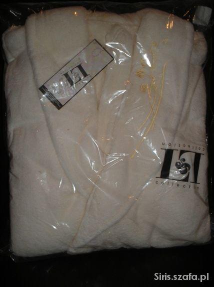 Ekskluzywny komplet szlafrok z 2 ręcznikami