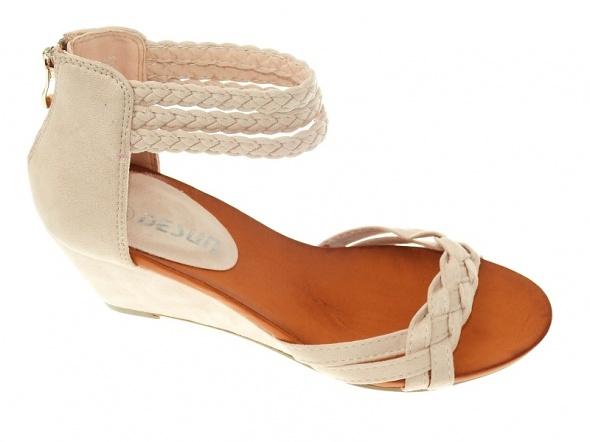 50e8e575feefd2 nowe beżowe sandały 38 w Sandały - Szafa.pl