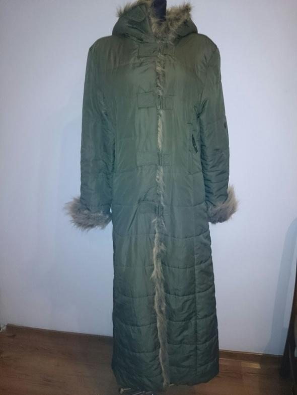 Plaszczyk długi khaki M na L