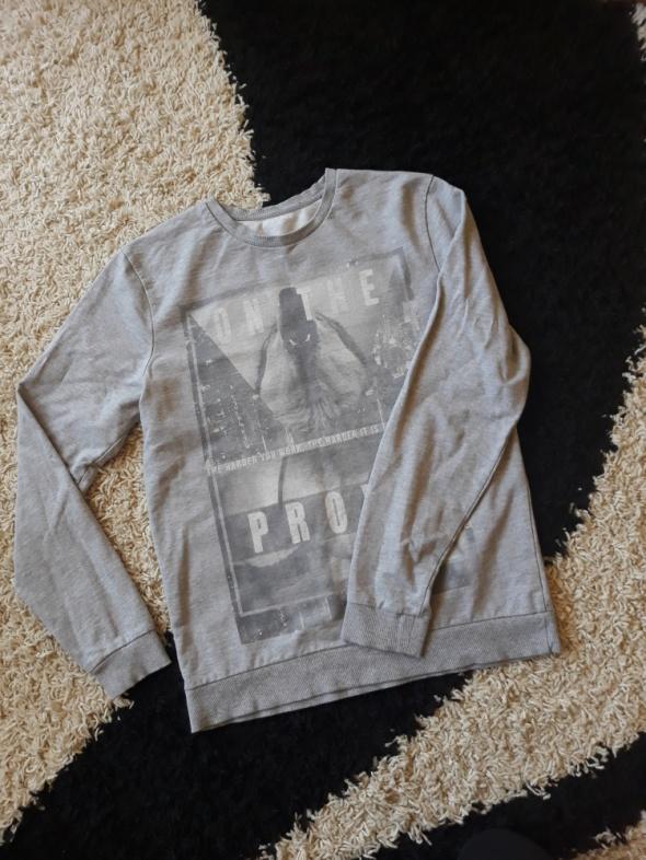 Szara bluza z długim rękawem M...