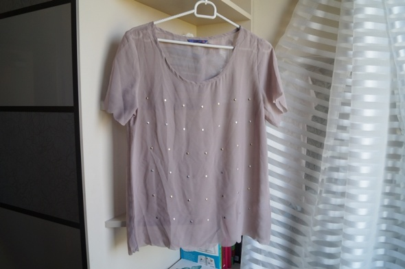 Liliowa bluzeczka z dżetami M