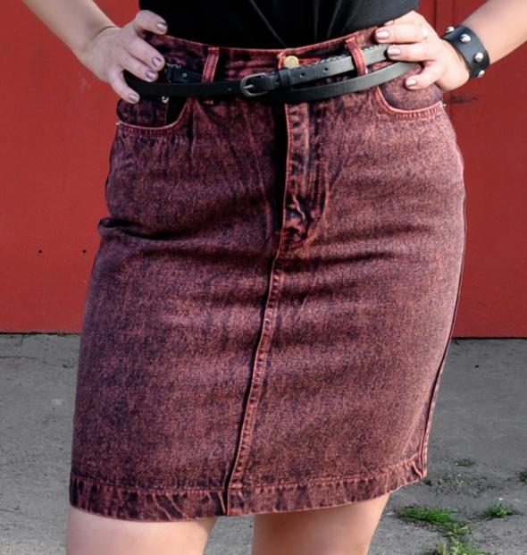 Spódnice jeansowa spódnica z paskiem z ćwiekami