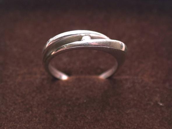 Pierścionek z cyrkonią srebrny Próba 925