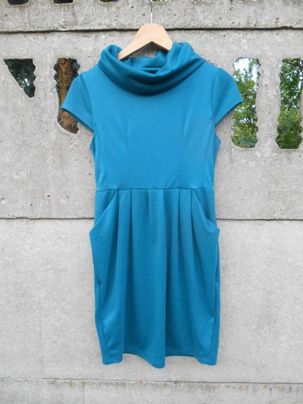 Dzianinowa Sukienka 36 S szmaragdowa Greence