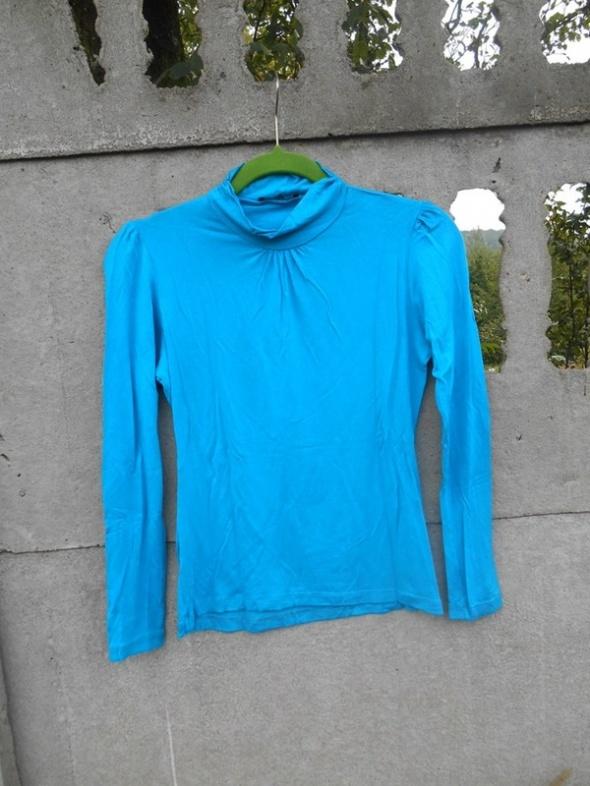 Lazurowy Golf 36 S błękit cienki jak bluzka