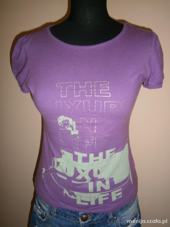 fioletowa bluzka z bufkami Vero Moda