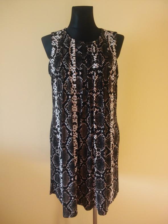 Calvin Klein sukienka skóra węża
