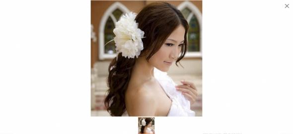 Kwiat do włosów spinka gumka bransoletka 15x15