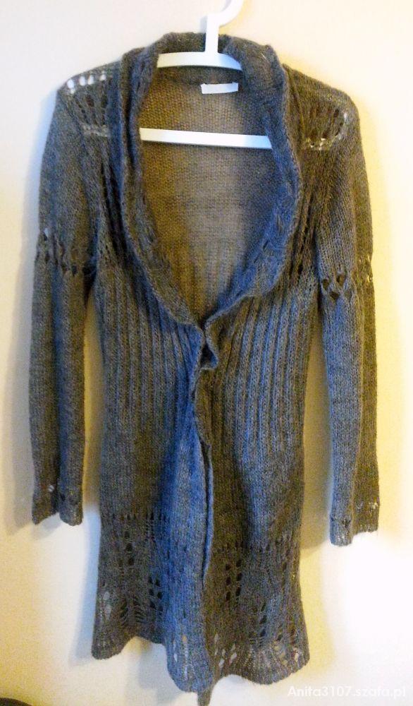Długi sweter z dziurami Promod...