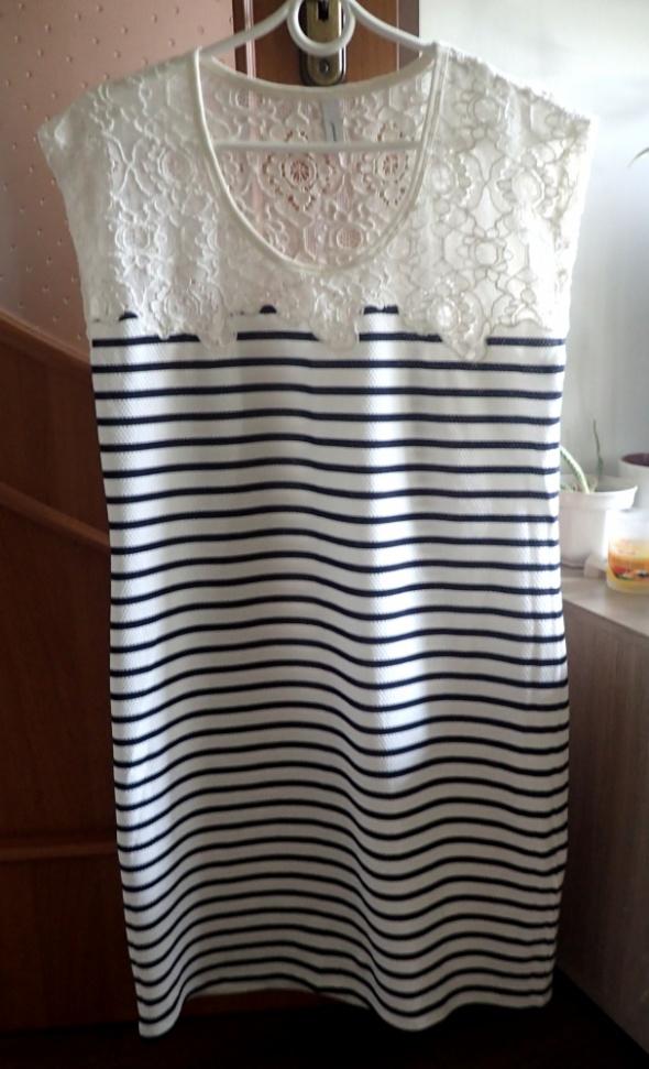 Soyaconcept M L koronka bawełna sukienka