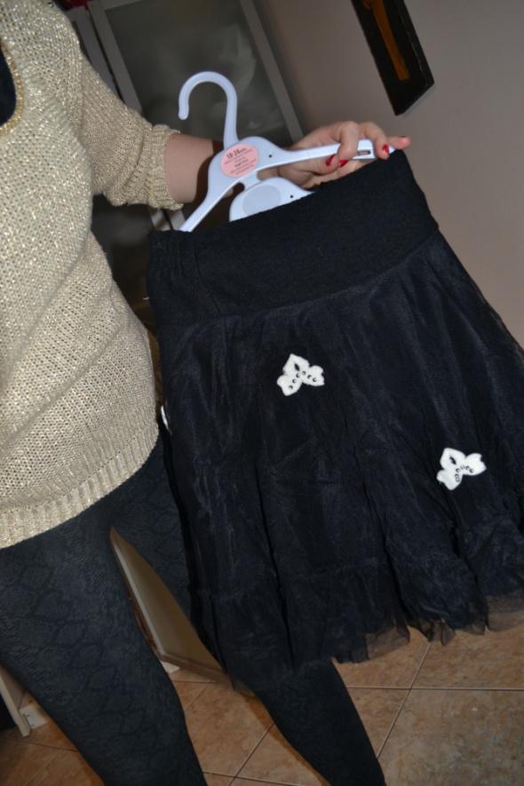 Spódniczka tiul czarna 122cm 128cm 6 7 8 lat