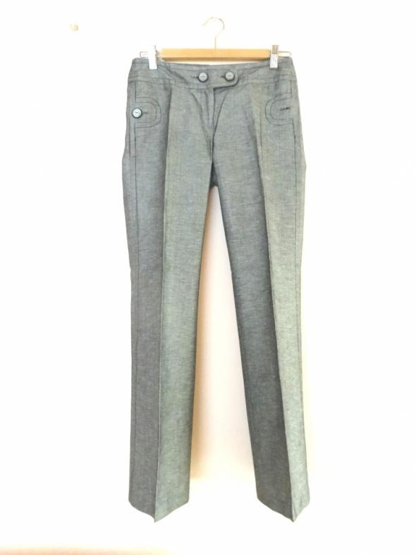 eleganckie spodnie w kant szare Orsay xs 34
