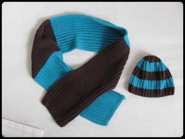 HOT OIL Zimowy komplet dla chłopca czapka rozmiar 52