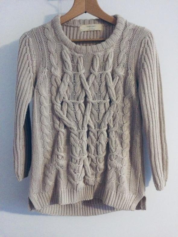 Sweter ze splotem Zara