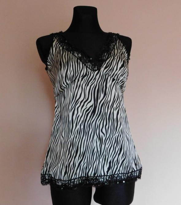 Evie bluzka satynowa zebra 40