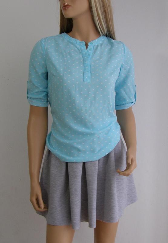 koszulka bluzka serduszka M 38 S serca niebieska