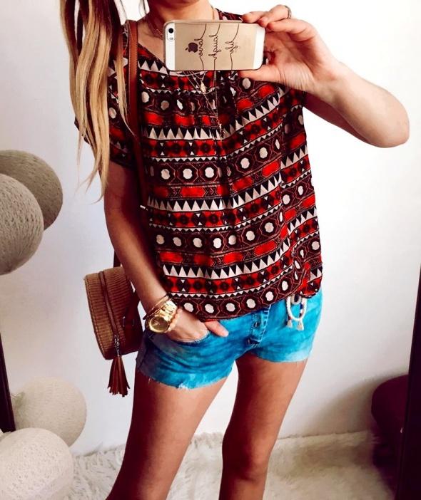 Bluzka Damska elegancka aztecka L