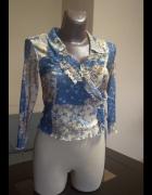 Delikatna bluzka mgiełka vintage parisian style...