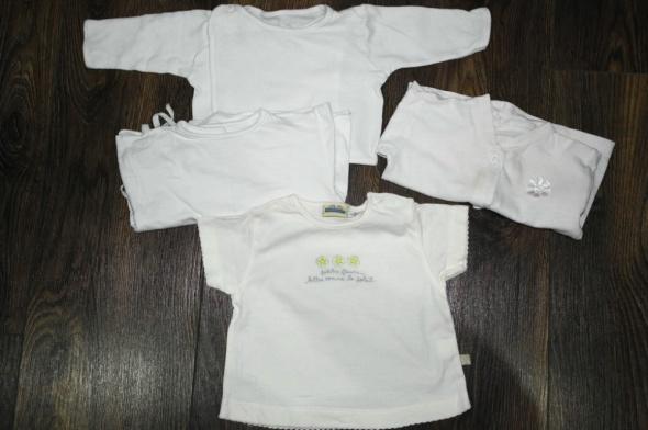 Cztery białe koszulki 56 62