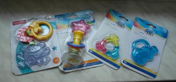 NOWE Fisher Price Canpol Babies gryzaki wodne