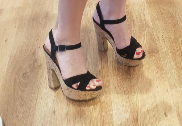 Atmosphere buty koturny sandały 38