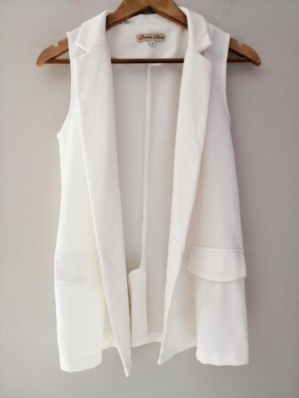 Elegancka biała kamizelka bezrękawnik 38 M