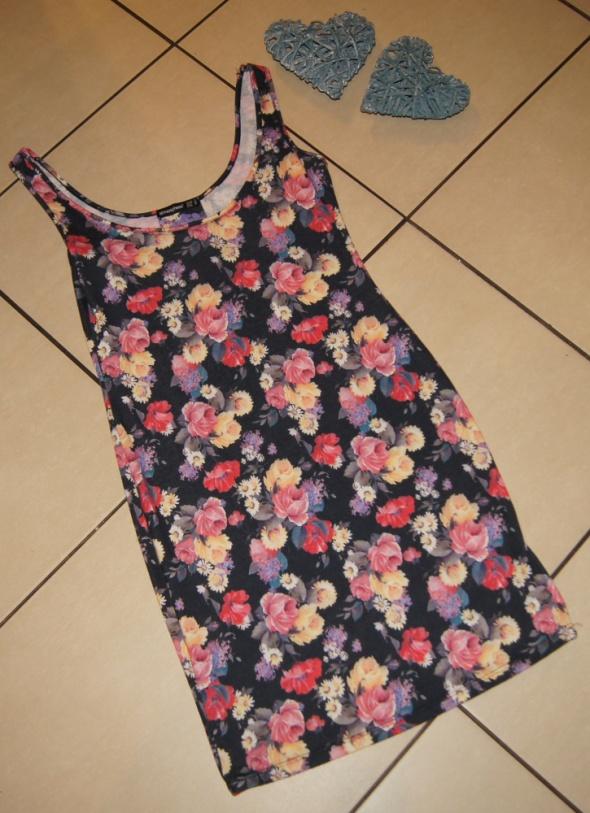 Sukienka damska floral kwiaty róże rozm 36 S