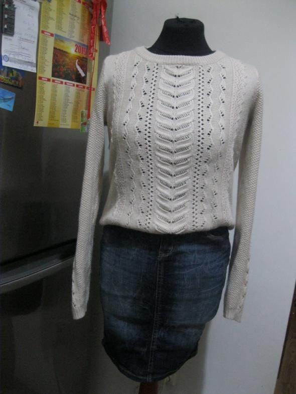 zestaw spódnica jeans S i sweter blogerski S M