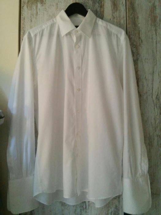 Biała koszula na spinki Wólczanka