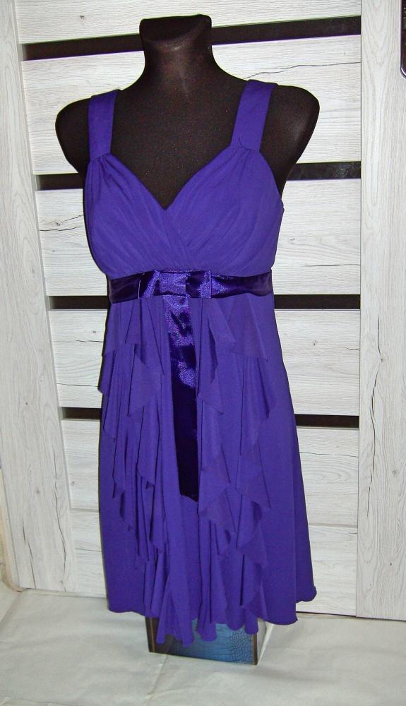 fioletowa sukienka bon prix