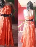 spódnica maxi pomarańcz